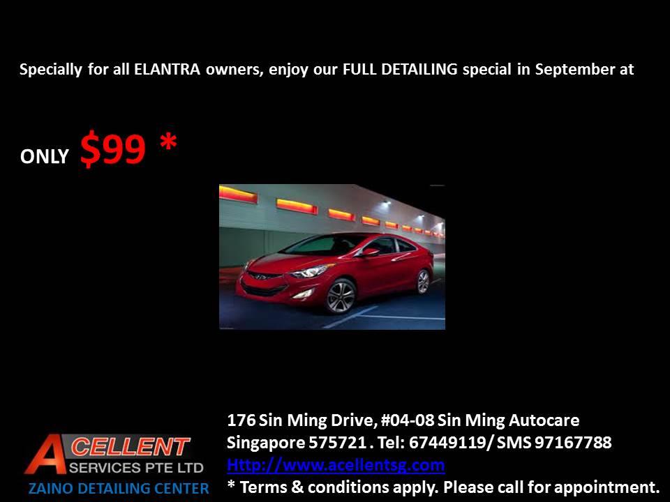 Acellent Zaino detailing & Auto insurance center Elantrasep2013special