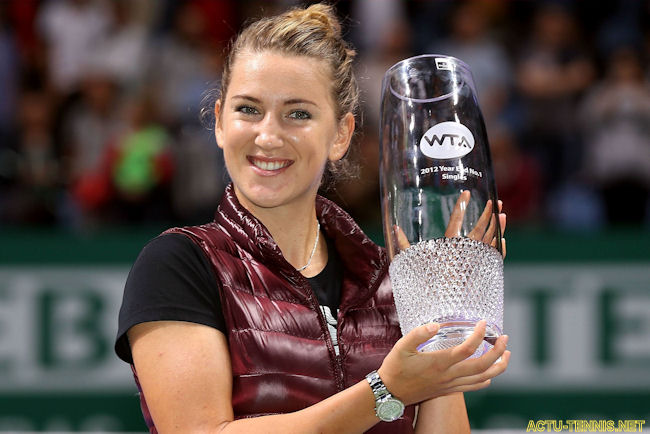 VICTORIA AZARENKA - 1st Years End trophy, Credits 2012: AP/Reuters/GettyImages