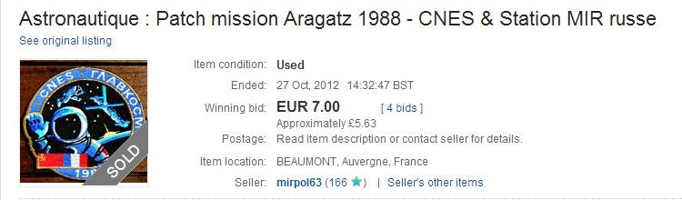 Quel est ce patch offert par Jean-Loup Chrétien ? AragatzPatch-eBay-Oct2012