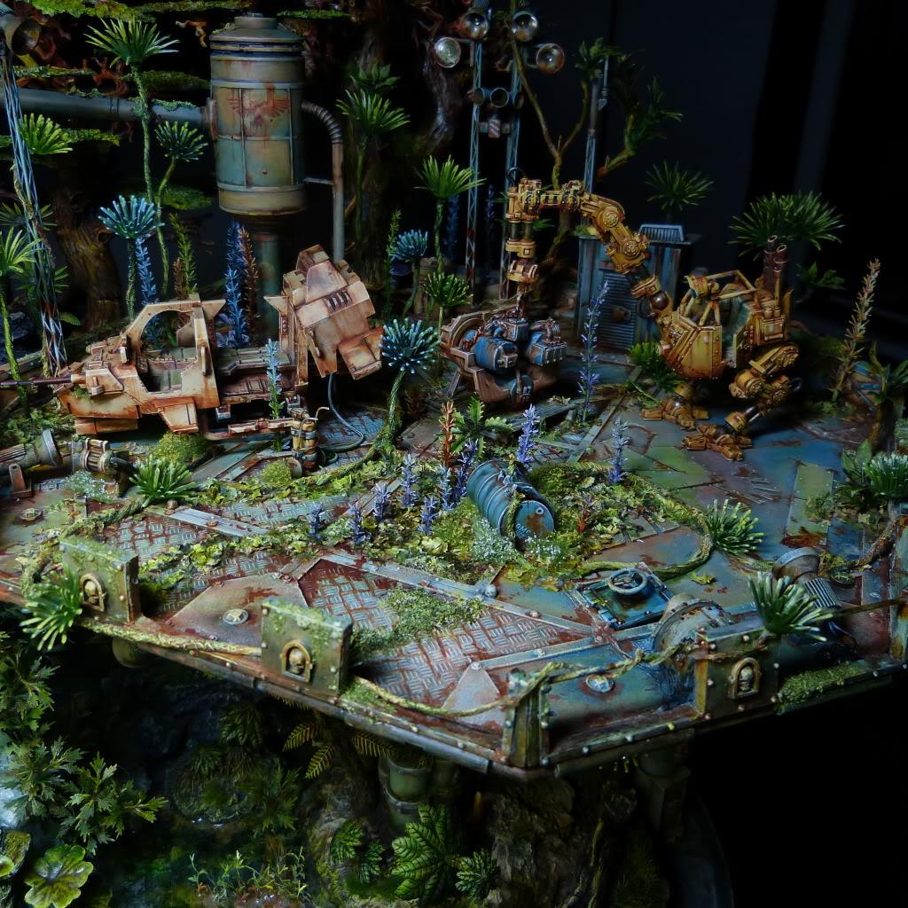 40K_Atelier décors en vue d'une nouvelle table Jungle P1030720