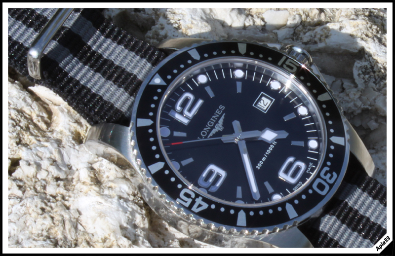 Longines - Longines Hydroconquest 39mm Noire Hydro5