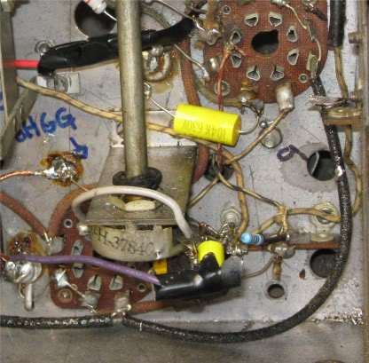 Motorola 6y ~1937  -- I.F. Coil problem and an unidentified power transformer lead Ifcoilpart9