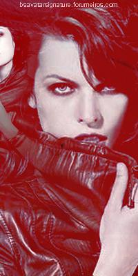 Mila Jovovich Jovovich_red