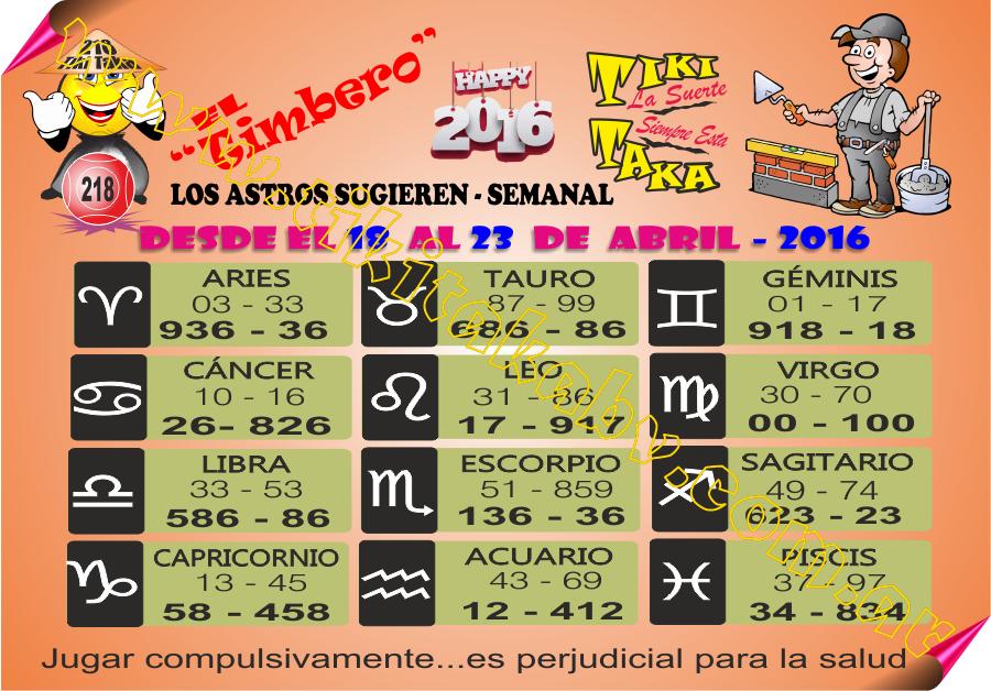 DATOS SEMANALES DESDE EL 18/04 al 23/04/2016 inclusive.♦ 12985337_1079903825399549_6886777247774602909_n_zpshnjxhk8m