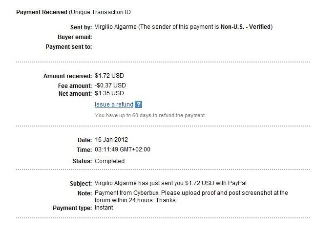 Payment Proof Cyber3