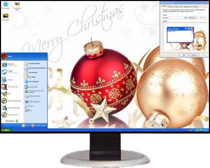 تحميل 7 ثيمات Xp Themes رائعة للاكس بى  ChristmasXPThemes