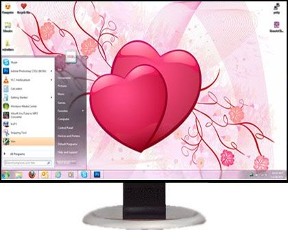 تحميل 7 ثيمات Xp Themes رائعة للاكس بى  ValentinesLoveXPSaverXPThemes