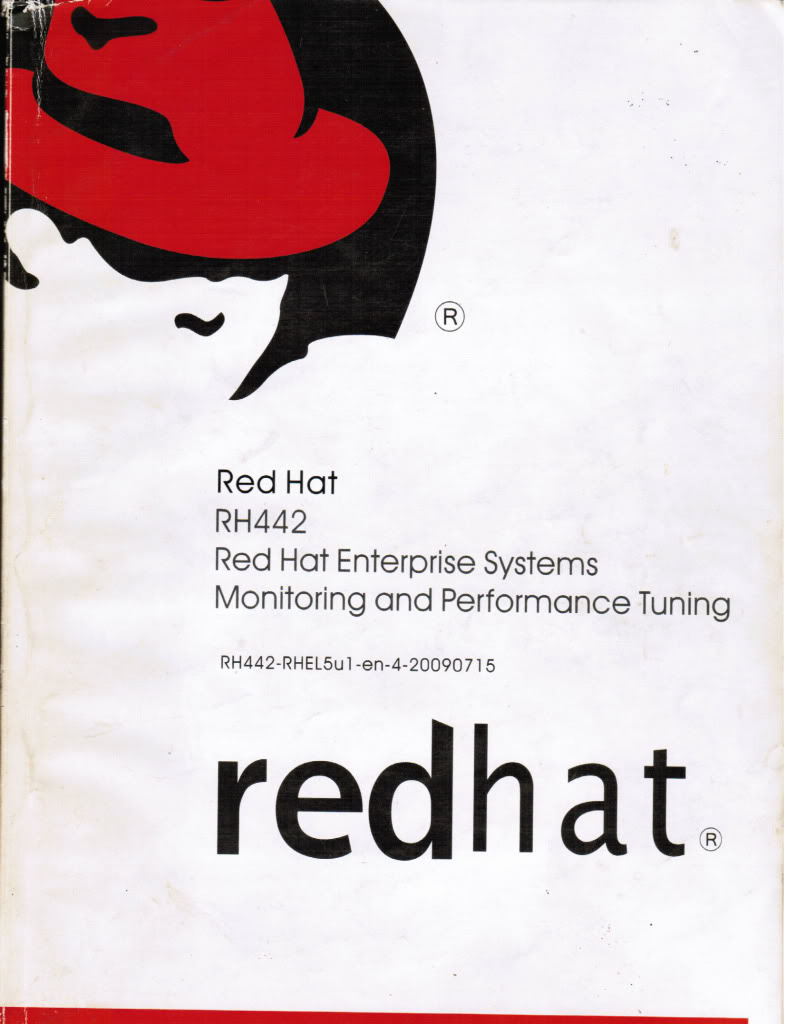 Sách Linux RH442 Red Hat Enterprise System Monitoring and Performance Tuning RH442cover