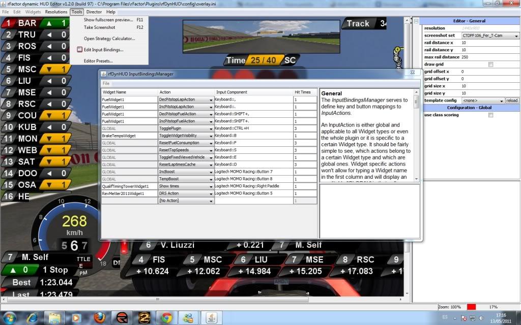 HUD 2011 para rfactor Sdk3