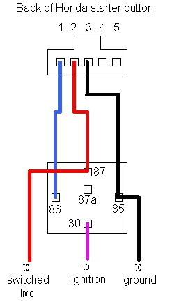 boton start engine Hondastarterbuttonwiring