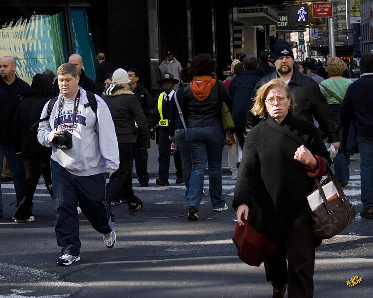 """""""I'm Walking, HERE"""" 10-2006_NYC_053"""