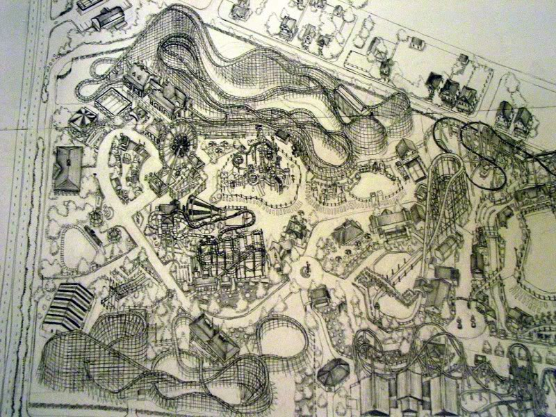 My pencil drawing of Hersheypark DSC06568