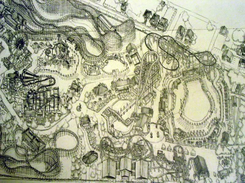 My pencil drawing of Hersheypark DSC06570