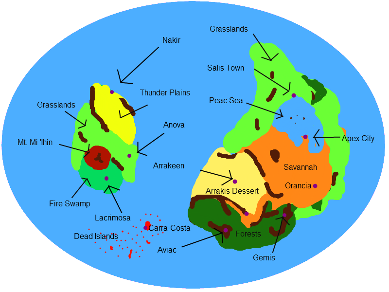 The need for a World Map 1PokeRevMap