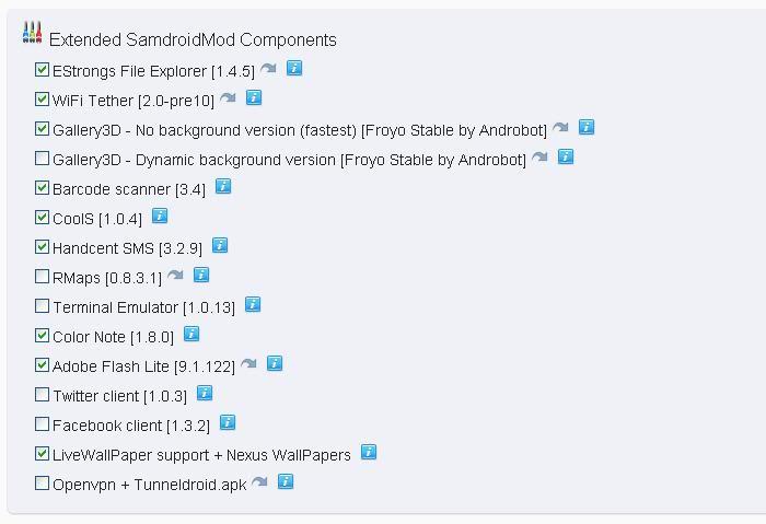Instalar Samdroid con opciones para cocinar [Spica] Samdroidmod