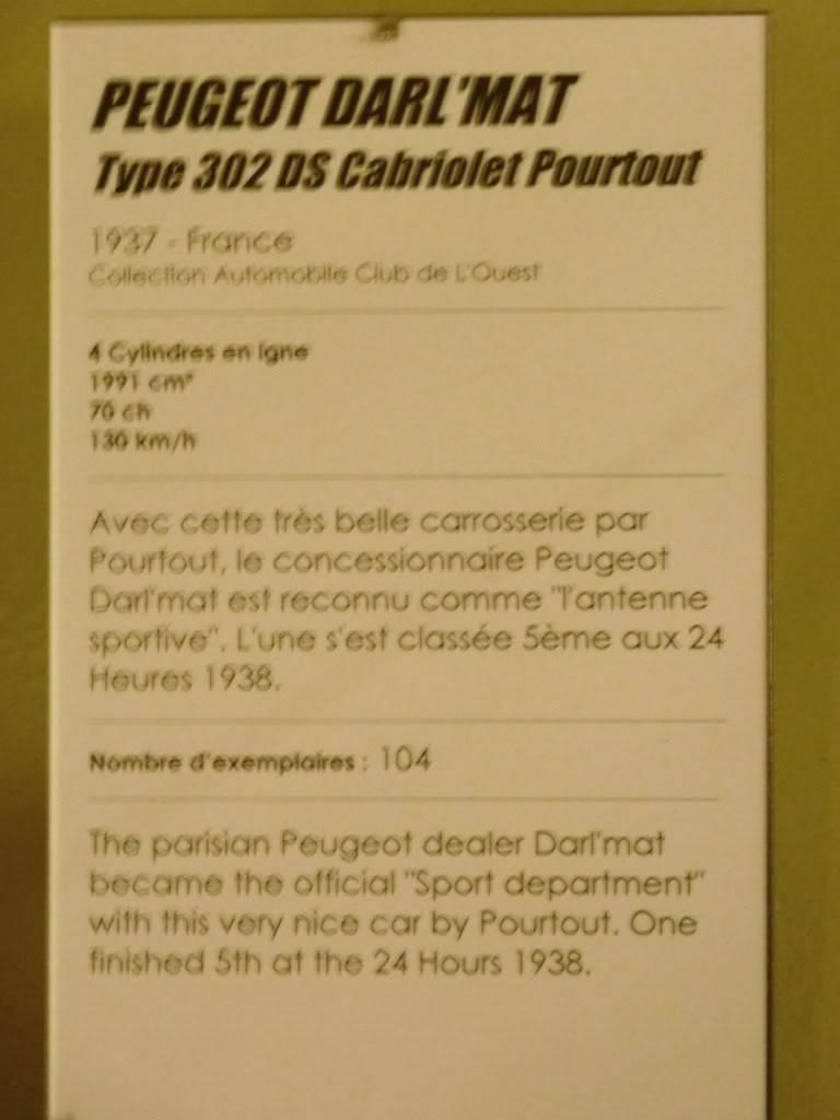 [ FOTOS ] Visita al Museo de las 24h de Le Mans P1020809