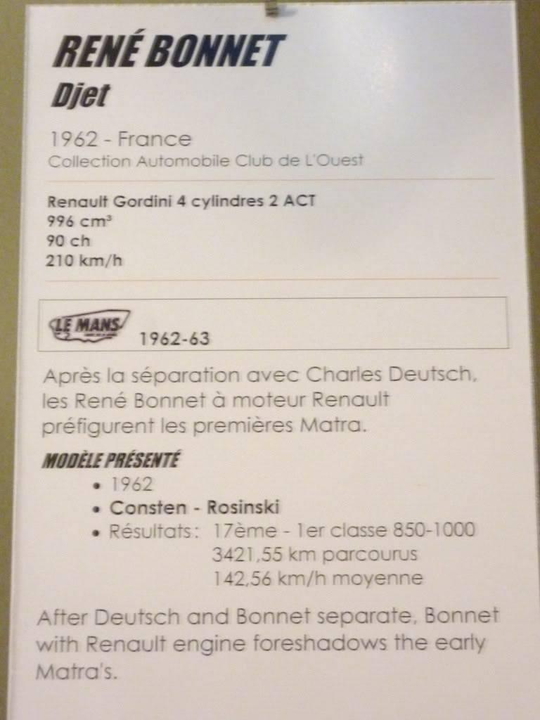 [ FOTOS ] Visita al Museo de las 24h de Le Mans P1020857