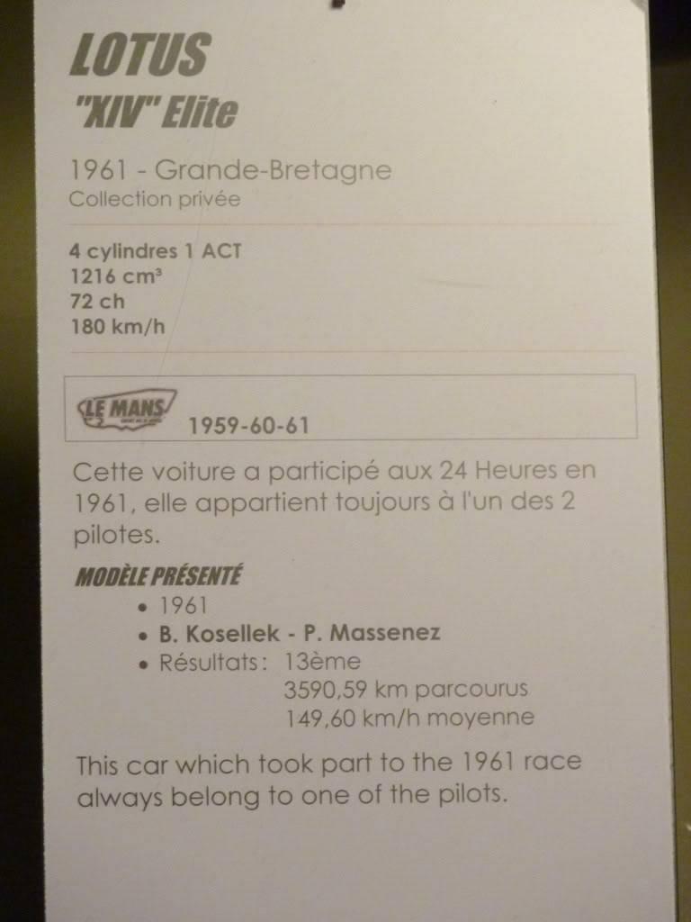 [ FOTOS ] Visita al Museo de las 24h de Le Mans P1020861