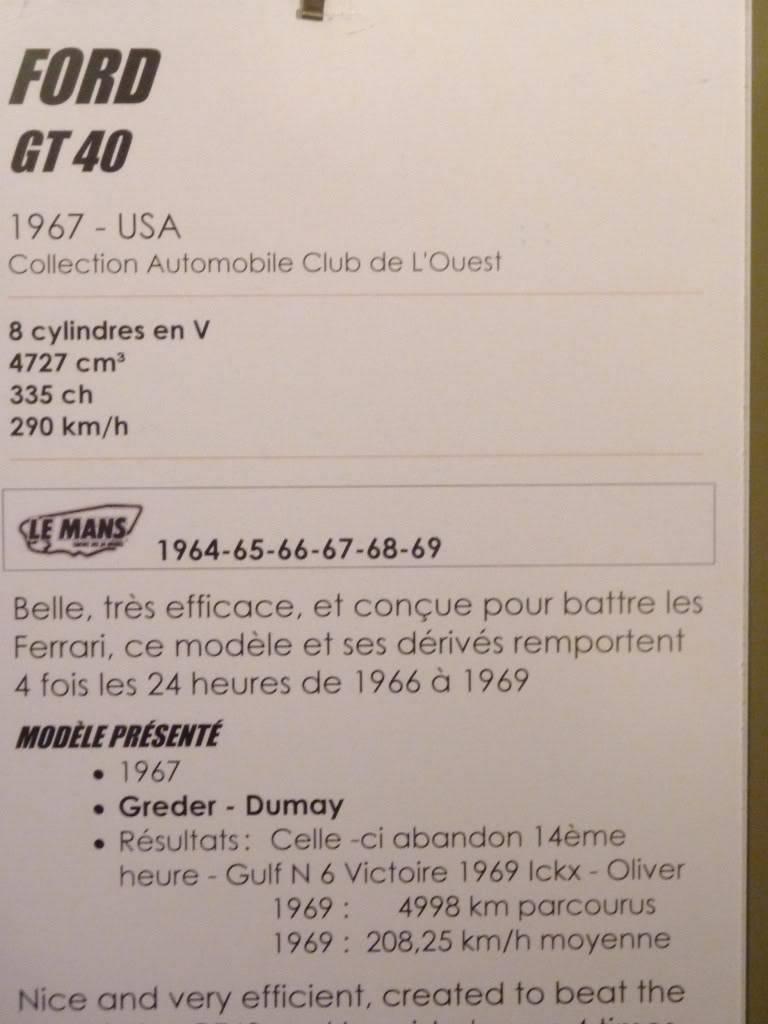[ FOTOS ] Visita al Museo de las 24h de Le Mans P1020884