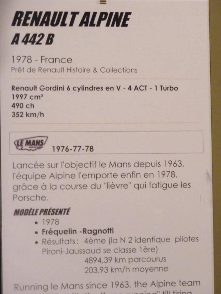 [ FOTOS ] Visita al Museo de las 24h de Le Mans P1020906