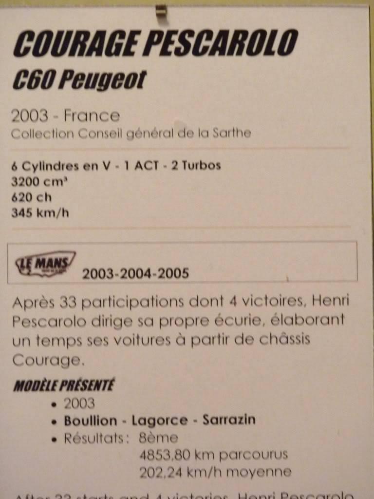 [ FOTOS ] Visita al Museo de las 24h de Le Mans P1020928