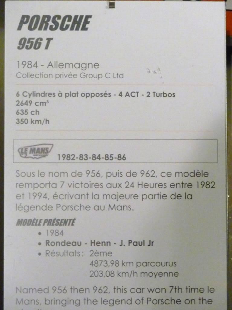 [ FOTOS ] Visita al Museo de las 24h de Le Mans P1020932