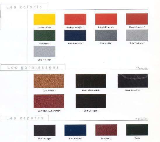 [ CHAPA ] Colores oficiales Teintes2001