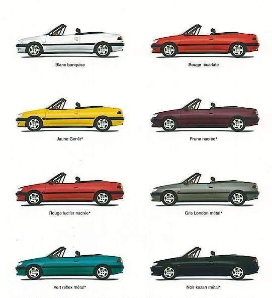 [ CHAPA ] Colores oficiales Teintes1994