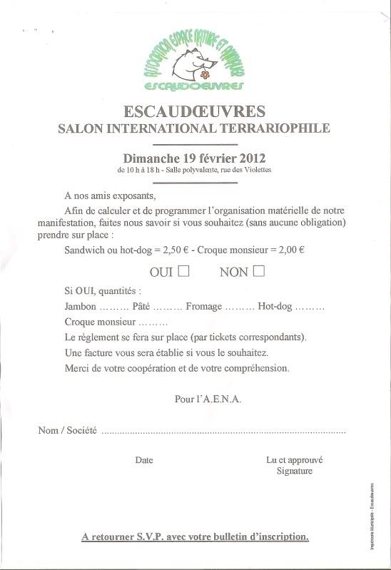 2eme bourse d'Escaudoeuvres le 19.02.2012  Nourriture