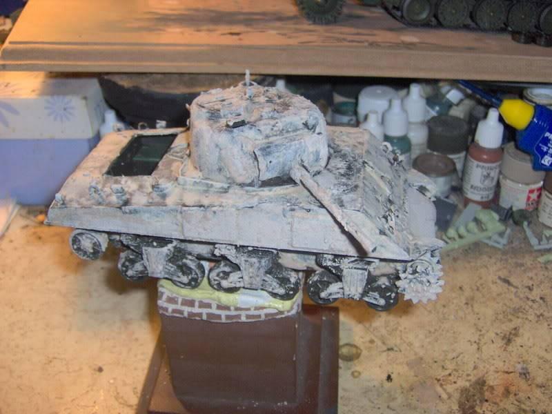 sherman abandonné T34032