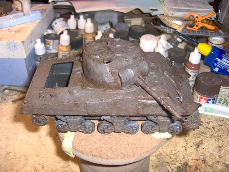 sherman abandonné T34038