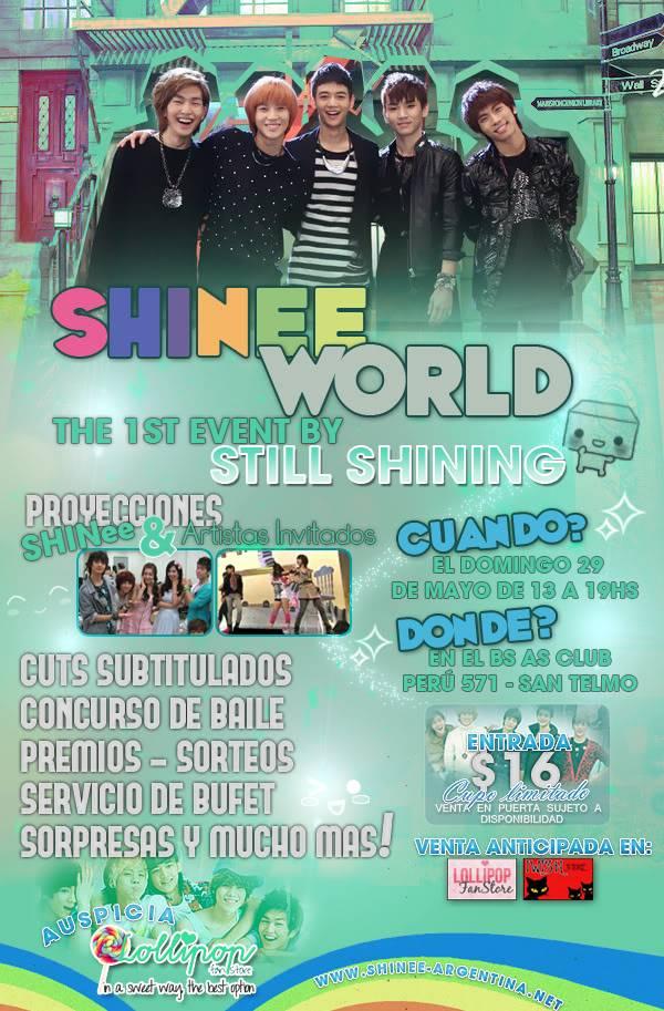 """Primer evento de STILL SHINING: """"SHINee World"""" Flyerlisto"""