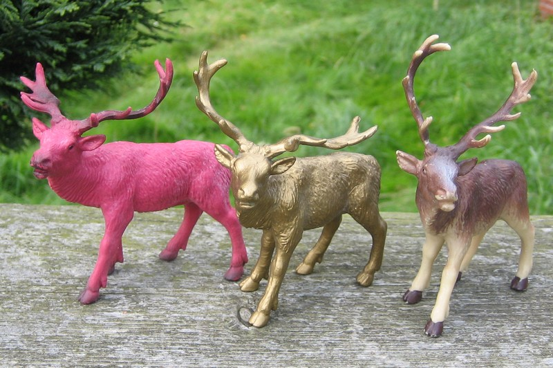 A RED, red deer, a little dog house, dire wolf, and a GREAT horse shed :-) Deer2