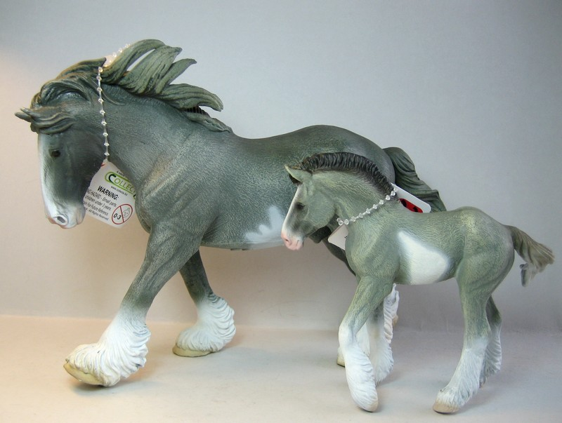 Some new Collecta horses released in February 2013 Clydegray13_zpse5136d56