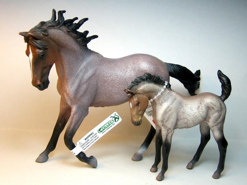 Susannes new collectas : Baby lion, dinoes, zebras, roan horses, plants,cocker.. Collectaroans