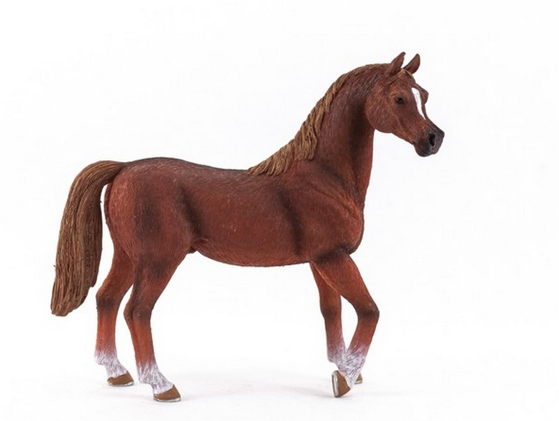 New for 2013 : Arabian horse , a chestnut and a black :-) Mojo-74