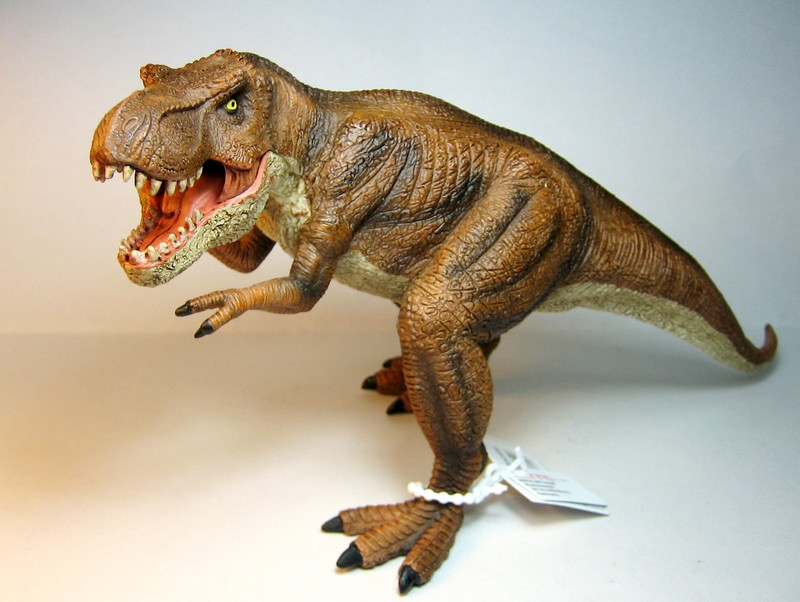 The large T-rex from Mojo, - and his little friend ;-) Mojorex1