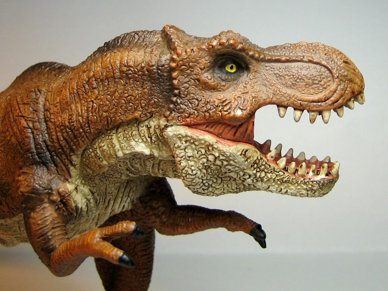 The large T-rex from Mojo, - and his little friend ;-) Mojorex4