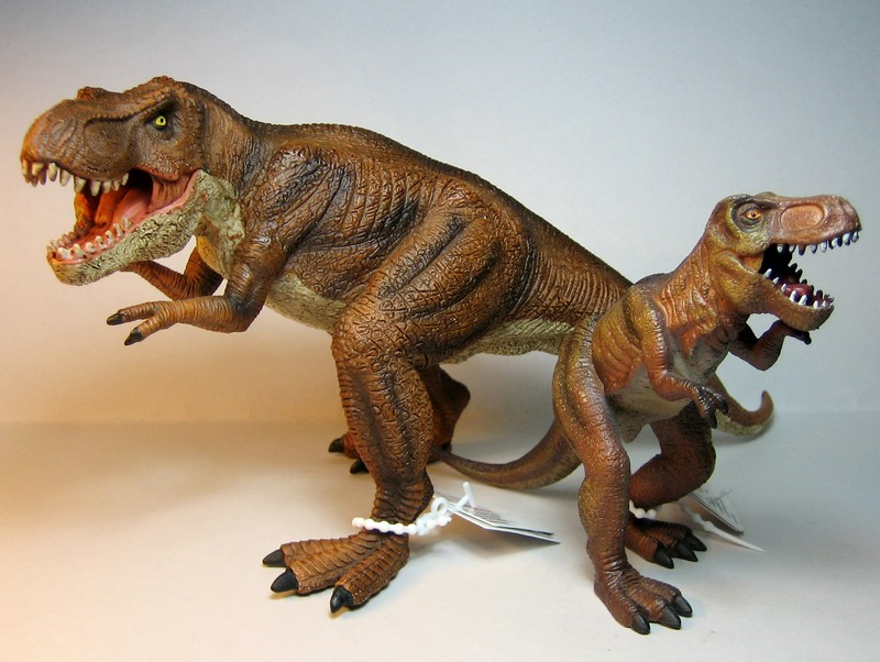 The large T-rex from Mojo, - and his little friend ;-) Mojorex7