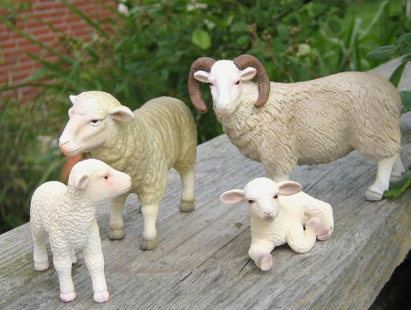 A little mojo shopping freekout : Pigs, sheep, cows, a moose and a kangoo :-D Mojowhitesheep