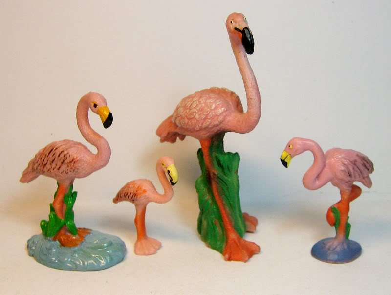 Some retired plants, birds, ponies and a few more oldies. Bully4flamingoes