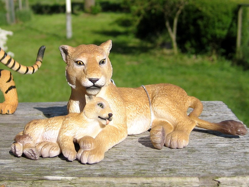 An octupus from Kristie, tiger and lioness with kittens, the new giraffes and Fridolin, the missing calf :-) Lionandbaby