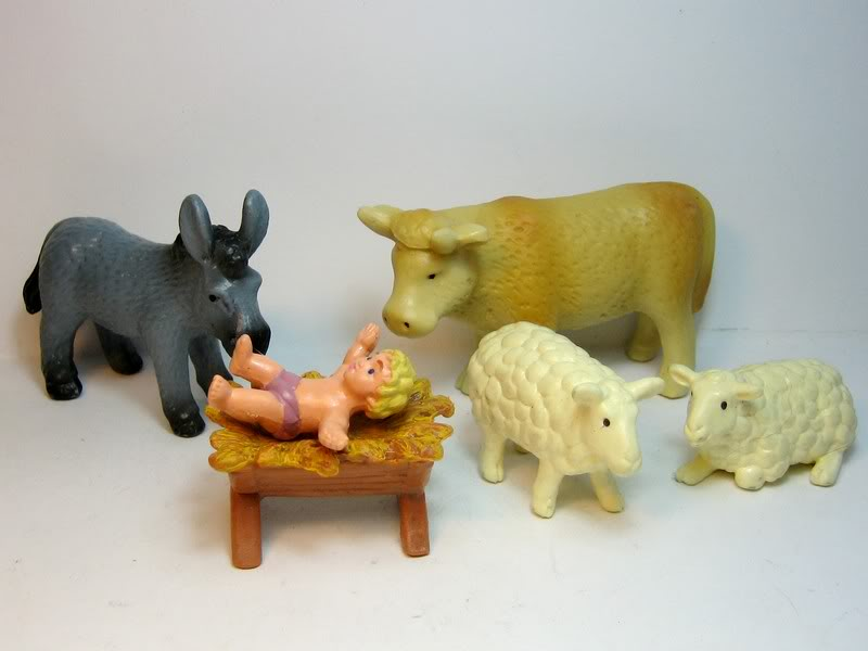 Some retired plants, birds, ponies and a few more oldies. Nativity1
