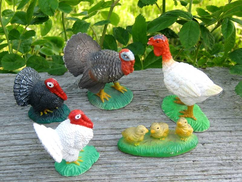 The turkeys from Bullyland, - at last I found the chickens :-) Turkey1