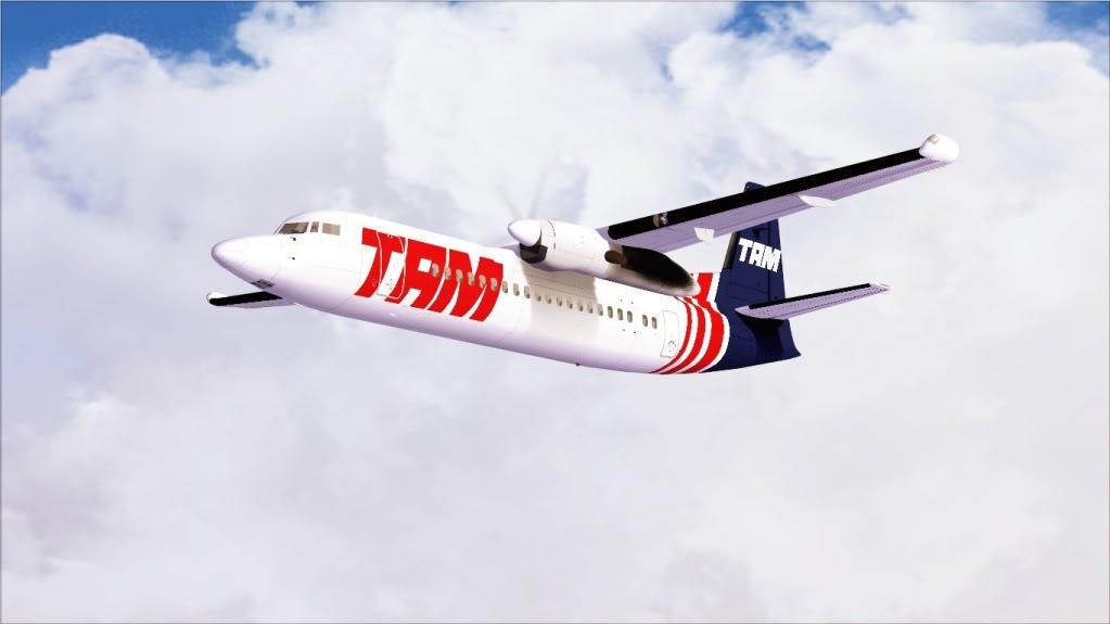 Fokker 50 TAM pousando em Bauru 1-5