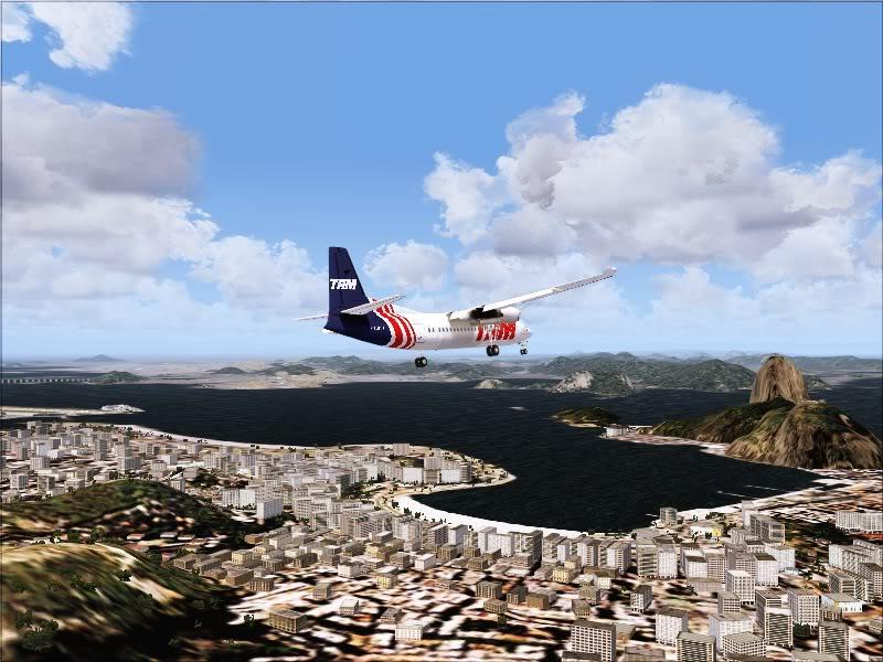 Fokker 50 TAM no Rio de Janeiro. 10-4