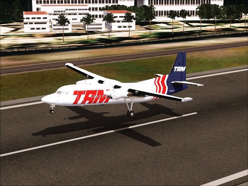 Fokker 50 TAM no Rio de Janeiro. 13-1