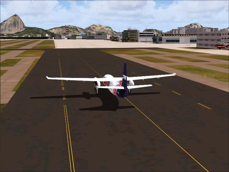 Fokker 50 TAM no Rio de Janeiro. 16-1