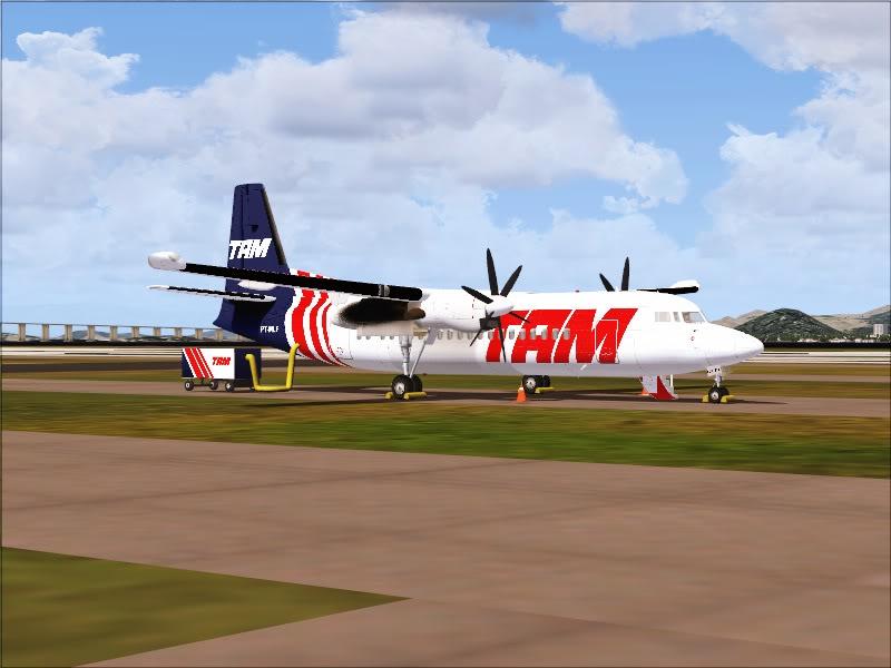 Fokker 50 TAM no Rio de Janeiro. 18-1