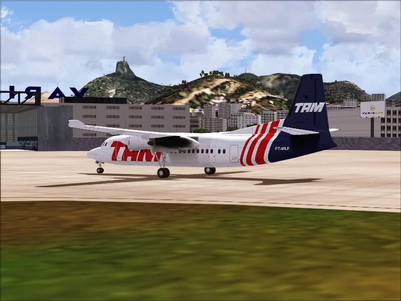 Fokker 50 TAM no Rio de Janeiro. 3-8